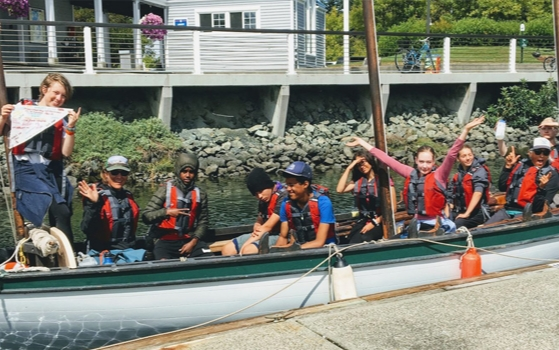 Maritime Vessel Operations students seafaring in the San Juans